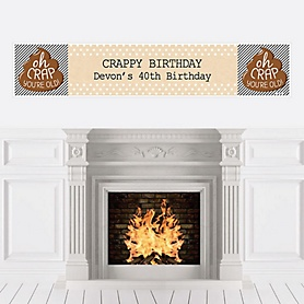 Oh Crap, You're Old! - Personalized Poop Birthday Party Banners