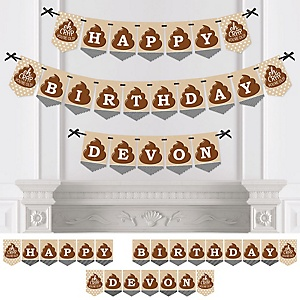 Oh Crap, You're Old! - Personalized Poop Emoji Birthday Party Bunting Banner & Decorations