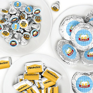 Oktoberfest - Mini Candy Bar Wrappers, Round Candy Stickers and Circle Stickers - German Beer Festival Candy Favor Sticker Kit - 304 Pieces