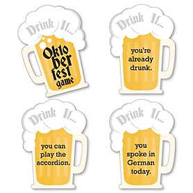 Oktoberfest - Drink If German Beer Festival Party Game - Set of 24