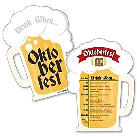 Oktoberfest - Drink When Biergarten Game Cards - German Beer Festival Drinking Game - 20 cards