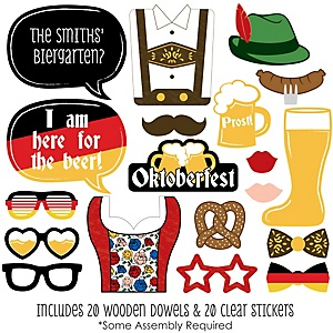 Oktoberfest - 20 Piece German Beer Festival Photo Booth Props Kit