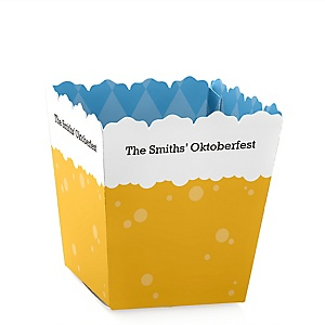 Oktoberfest - Personalized German Beer Festival Mini Favor Boxes - Party Treat Candy Boxes - Set of 12