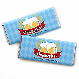Oktoberfest - Personalized Candy Bar Wrapper German Beer Festival Party Favors - Set of 24
