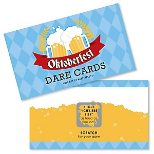 Oktoberfest - German Beer Festival Party Game Scratch Off Dare Cards - 22 Count