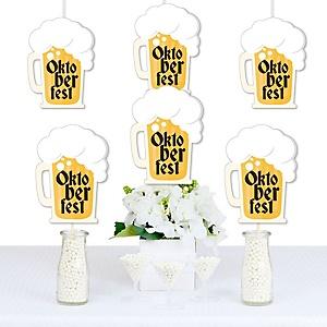 Oktoberfest - Beer Mug Decorations DIY German Beer Festival Party Essentials - Set of 20