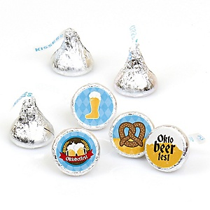 Oktoberfest - Round Candy Labels German Beer Festival Favors - Fits Hershey's Kisses - 108 ct