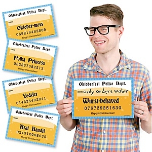 Oktoberfest - German Beer Festival Party Mug Shots - 20 Piece Photo Booth Props Kit