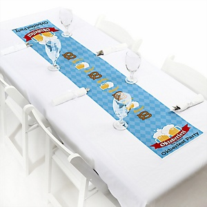 "Oktoberfest - Personalized Petite German Beer Festival Party Paper Table Runner - 12"" x 60"""