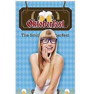 """Oktoberfest - German Beer Festival Party Photo Booth Backdrops - 36"""" x 60"""""""