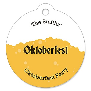 Oktoberfest - Personalized German Beer Festival Party Favor Gift Tags - 20 ct