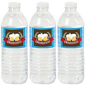 Oktoberfest - German Beer Festival Water Bottle Sticker Labels - Set of 20