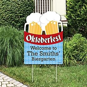 Oktoberfest - Oktoberfest Party Decorations - Personalized German Beer Festival Yard Sign