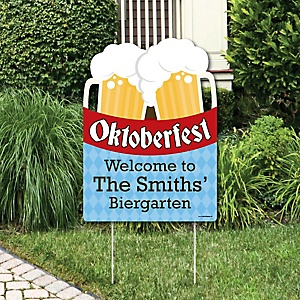 Oktoberfest - Oktoberfest Party Decorations - Personalized German Beer Festival Yard Sign