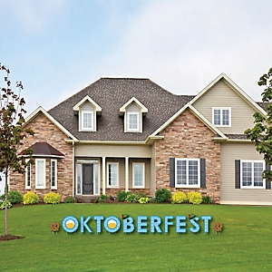 Oktoberfest - Yard Sign Outdoor Lawn Decorations - German Beer Festival Party Yard Signs - Oktoberfest