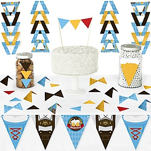 Oktoberfest - DIY Pennant Banner Decorations - German Beer Festival Triangle Kit - 99 Pieces
