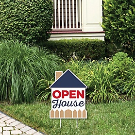 Open House - Outdoor Lawn Sign - Real Estate Yard Sign - 1 Piece