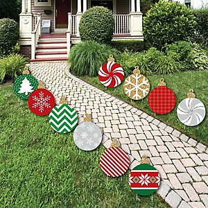 Ornaments Lawn Decorations - Outdoor Holiday and Christmas Yard Decorations - 10 Piece