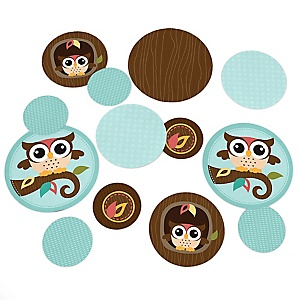 Owl - Look Whooo's Having A Party - Baby Shower or Birthday Party Table Confetti - 27 ct