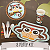 Owl - Look Whooo's Having A Baby - 8 Person Baby Shower Party Kit