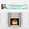 Owl - Look Whooo's Having A Baby - Personalized Baby Shower Banners