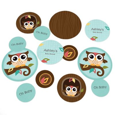 Owl   Look Whooou0027s Having A Baby   Personalized Baby Shower Table Confetti    27 Ct