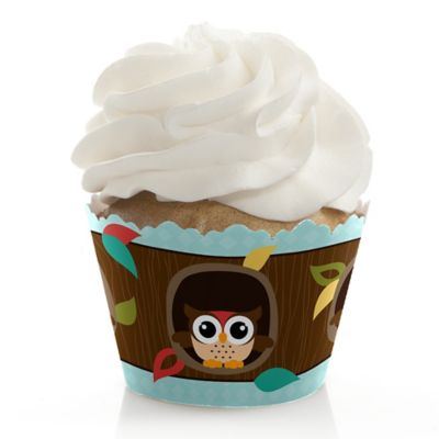 Owl   Look Whooou0027s Having A Baby   Baby Shower Cupcake Wrappers U0026  Decorations