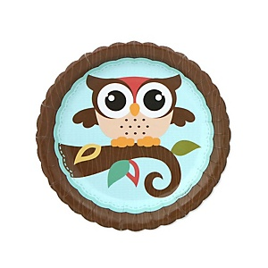 Owl - Look Whooo's Having A Baby - Baby Shower Dessert Plates - 8 ct