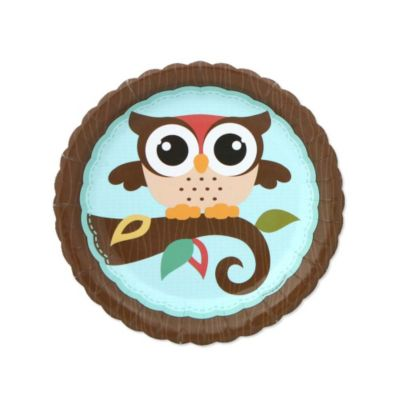 Lovely Owl   Look Whooou0027s Having A Baby   Baby Shower Dessert Plates   8 Ct