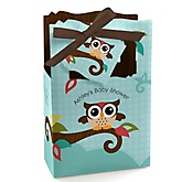 Owl - Look Whooo's Having A Baby - Personalized Baby Shower Favor Boxes