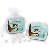 Owl - Look Whooo's Having A Baby - Personalized Baby Shower Mint Tin Favors
