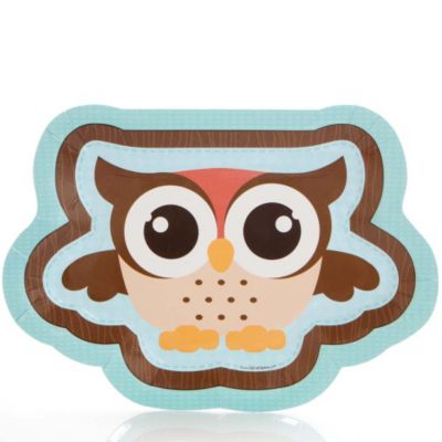 Owl   Look Whooou0027s Having A Baby   Baby Shower Dinner Plates   8 Ct