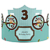 Owl - Look Whooo's Having A Birthday - Personalized Birthday Party Hats - 8 ct