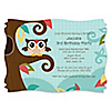 Owl - Look Whooo's Having A Birthday - Personalized Birthday Party Invitations