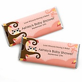 Owl Girl - Look Whooo's Having A Baby - Personalized Baby Shower Candy Bar Wrapper Favors