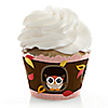 Owl Girl - Look Whooo's Having A Baby - Baby Shower Cupcake Wrappers & Decorations