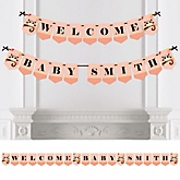 Owl Girl - Look Whooo's Having A Baby - Personalized Baby Shower Bunting Banner