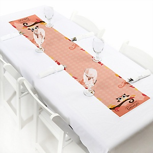Owl Girl - Look Whooo's Having A Baby - Personalized Party Petite Table Runner