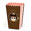 Owl Girl - Look Whooo's Having A Party - Personalized Party Popcorn Favor Treat Boxes - Set of 12