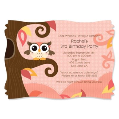 Owl Girl Look Whooos Having A Birthday Personalized Birthday