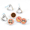 Owl Girl - Look Whooo's Having A Party - Round Candy Labels Party Favors - Fits Hershey's Kisses - 108 ct