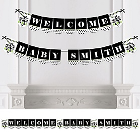 Party Like a Panda Bear - Personalized  Baby Shower or Birthday Party Bunting Banner & Decorations