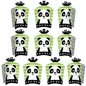 Party Like a Panda Bear - Table Decorations - Baby Shower or Birthday Party Fold and Flare Centerpieces - 10 Count