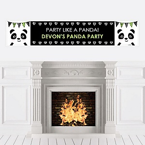 Party Like a Panda Bear - Personalized  Baby Shower or Birthday Party Banner