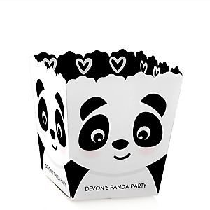 Party Like a Panda Bear - Party Mini Favor Boxes - Personalized  Baby Shower or Birthday Party Treat Candy Boxes - Set of 12