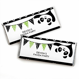 Party Like a Panda Bear - Personalized Candy Bar Wrapper  Baby Shower or Birthday Party Favors - Set of 24