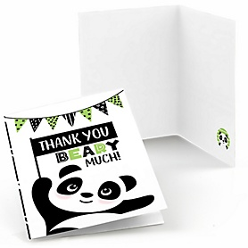 Party Like a Panda Bear -  Baby Shower or Birthday Party Thank You Cards  - 8 ct