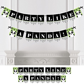 Party Like a Panda Bear - Baby Shower or Birthday Party Bunting Banner - Party Decorations - Party Like A Panda