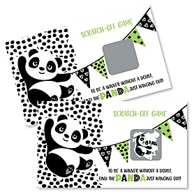 Party Like a Panda Bear - Baby Shower or Birthday Party Scratch Off Cards - 22 Cards