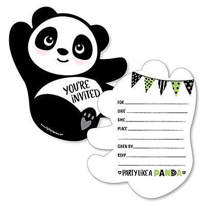 Party like a panda bear shaped fill in invitations baby shower party like a panda bear shaped fill in invitations baby shower or birthday party invitation cards with envelopes set of 12 filmwisefo